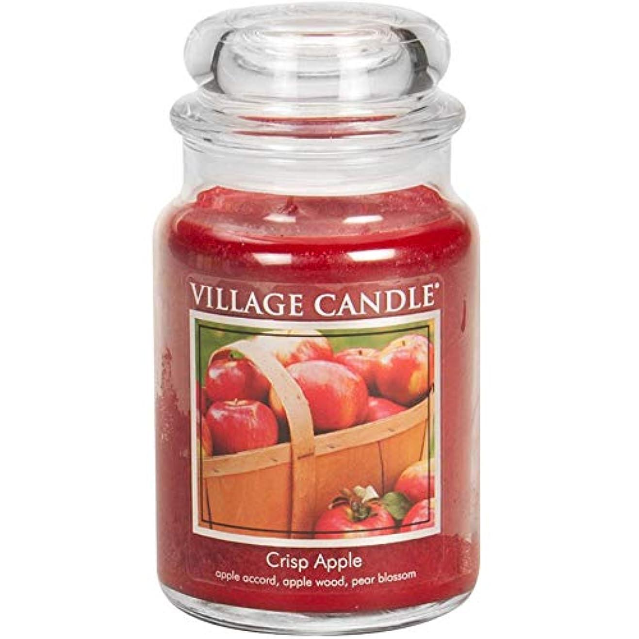 簡潔な熟練したキラウエア山(Large (770ml)) - Village Candle Crisp Apple 770ml Glass Jar Scented Candle, Large