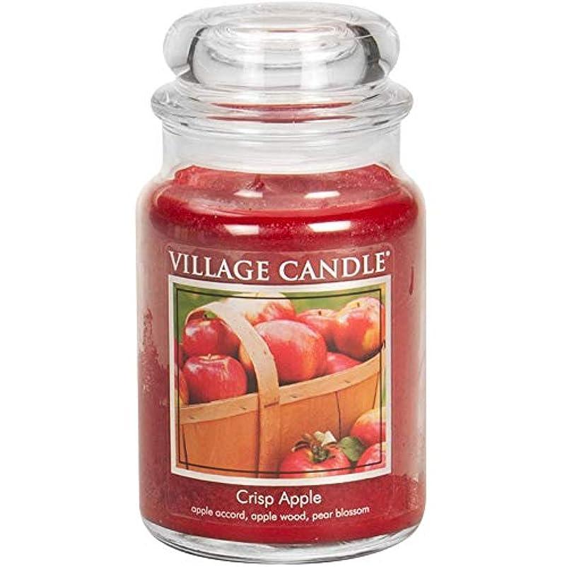 お手伝いさん十分な差別的(Large (770ml)) - Village Candle Crisp Apple 770ml Glass Jar Scented Candle, Large