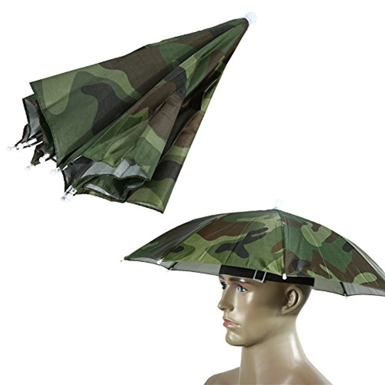 テスピアン召集する軽くTuankay 傘帽子 釣り帽子 折り畳み式 釣り用 両手が自由 晴雨兼用 迷彩 カラフル