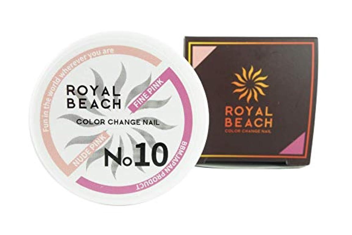 航空ミニ色合いROIYALBEACH (ロイヤルビーチ) カラーチェンジ ジェルネイル 太陽で色が変わるジェルネイル 全10種 ネイルデザイン ジェルネイル (ヌードピンク & ファインピンク)