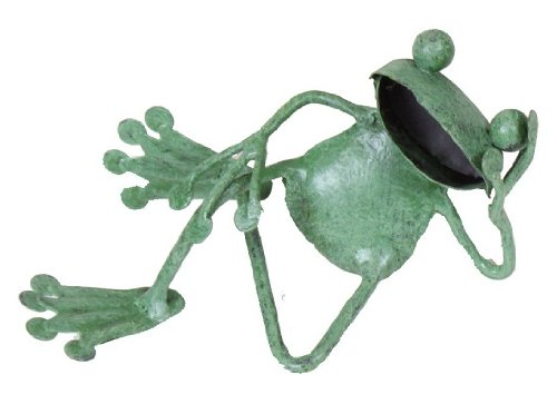 村田屋 【カエルの置物】 プチメタル フロッグ昼寝 サイズ約12×5×5cm