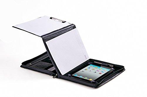 ExecutiveレザーPadfolio with Foldingセンターパネル、for Ipad / Ipad Air、11インチノートパソコン 12.9 inch iPad Pro