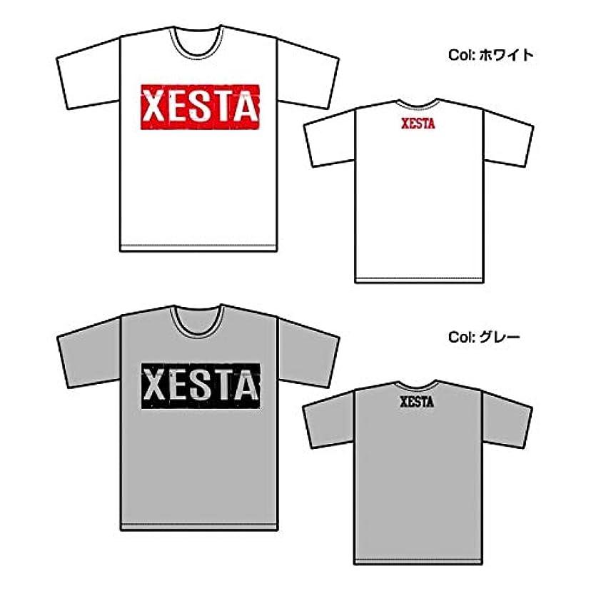 ゼスタ(XESTA) T-シャツ (ブロックロゴ) グレー×ブラック L