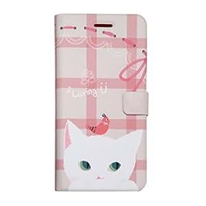 【日本正規代理店品】 Happymori iPhone6s/6 ケース  Cat Couple Diary ホワイト ダイアリータイプ  HM6638iP6S