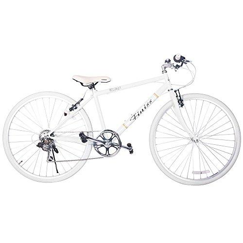 SHINEWOOD(シャインウッド)自転車 95%完成品 26インチ クロスバイク 軽量 シマノ7段変速 自転車 シティサイクル PL保険加入済 男性 女性 通勤 通学 5色 (ホワイト)