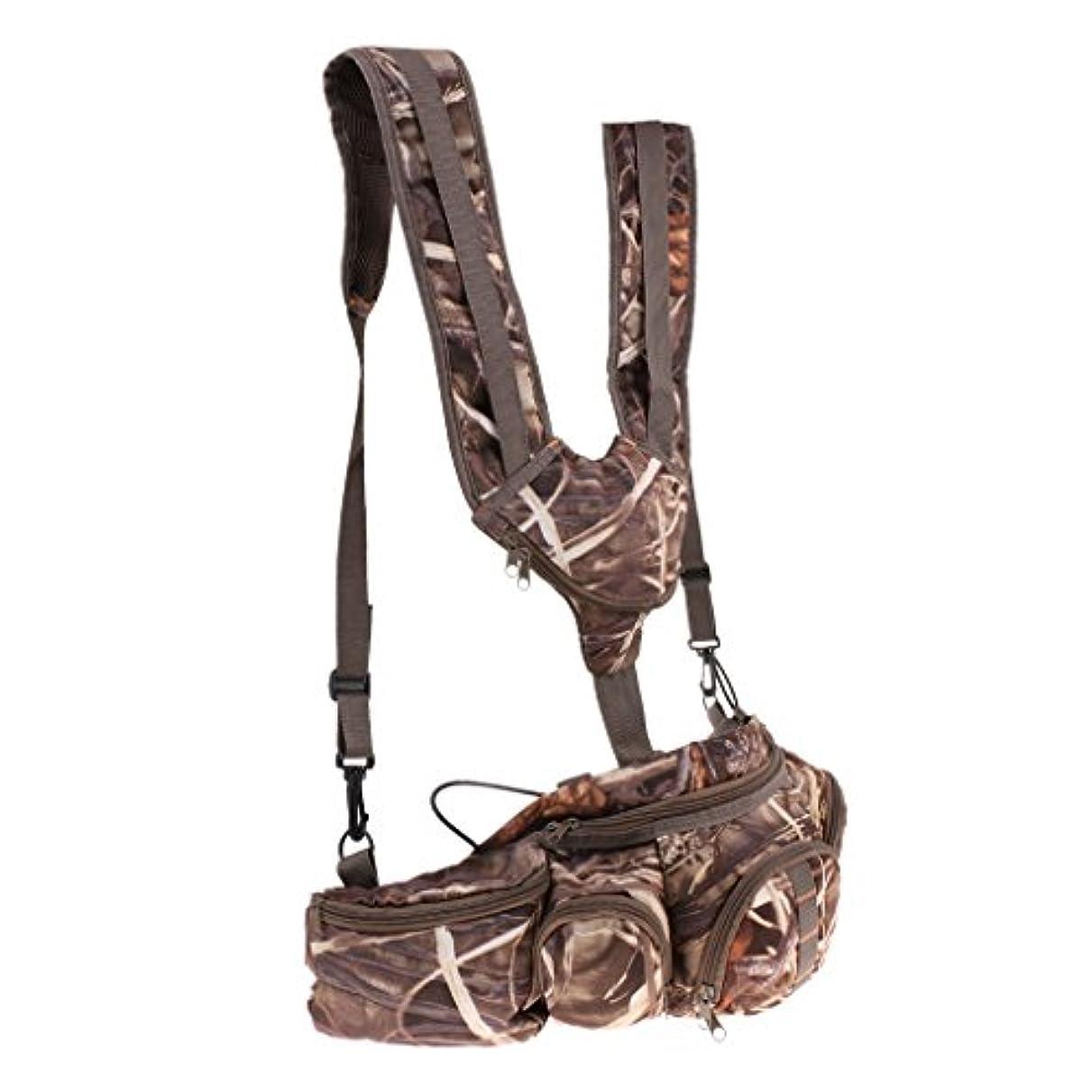 喜んで印象的端SunniMix マルチポケット タックルバッグ ウエストバッグ 迷彩 多機能 収納袋 キャンプ 釣り 屋外 便利 調整可能