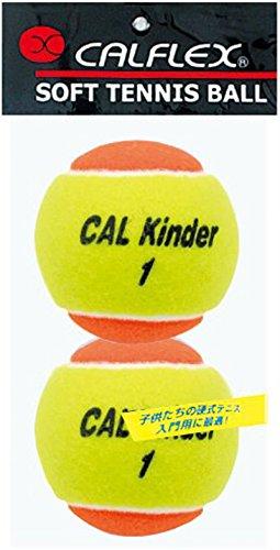 サクライ貿易(SAKURAI) CALFLEX(カルフレックス) テニス 軟式 ボール ノンプレッシャー ジュニア 2球入り  LB-480