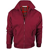 Janisramone Mens Boys New Zip Up Classic Retro Scooter 1970'S Vintage Bomber Winter Coat Harrington Jacket