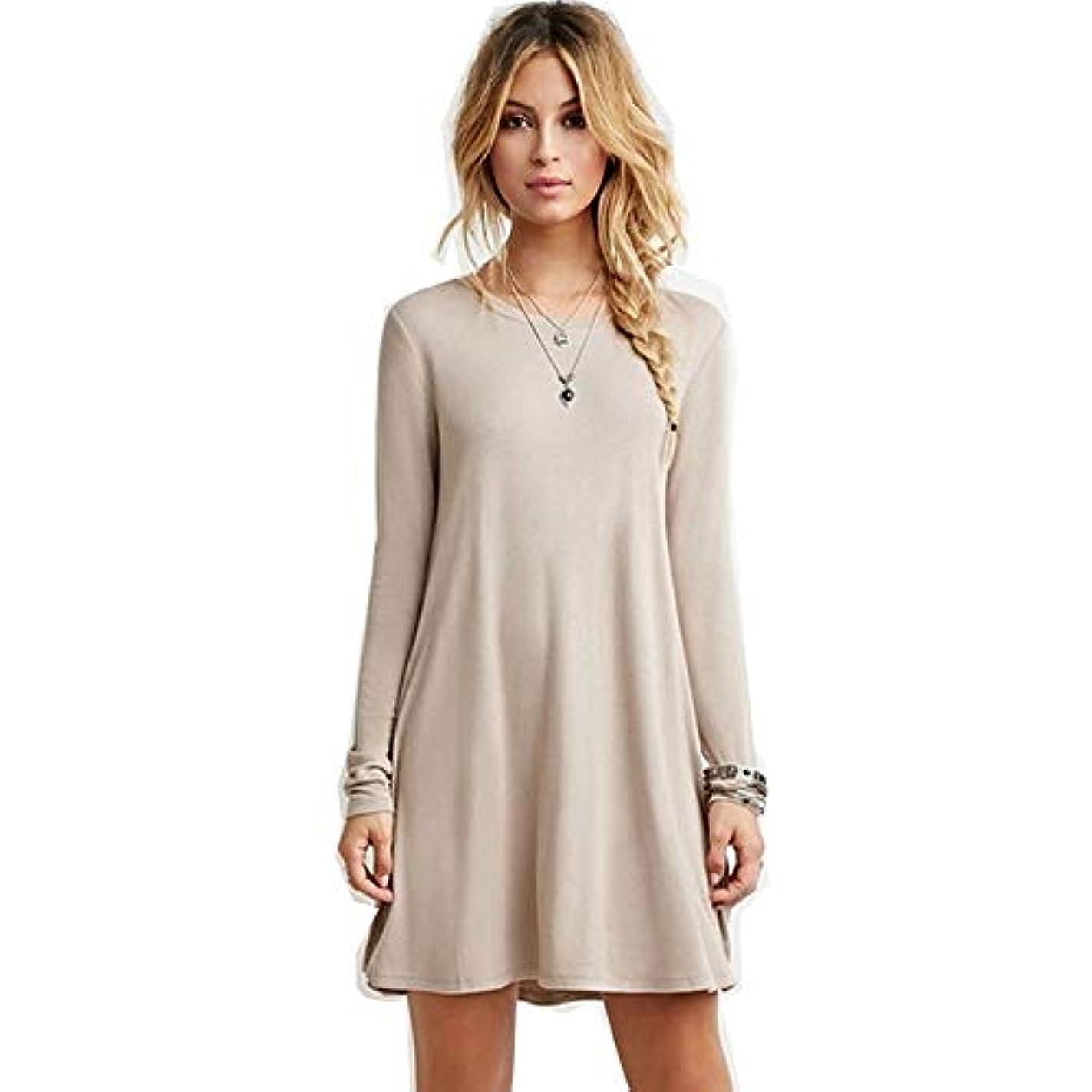 周術期波コメンテーターMIFANルースドレス、プラスサイズのドレス、長袖のドレス、女性のドレス、秋のドレス、マキシドレス、コットンドレス