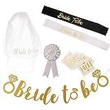 Baoblaze 結婚式 花嫁ドレス バナー サッシ 白いベール バッジ ロマンチック