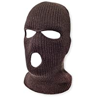 grinderPUNCH 3 Hole Beanie Face Mask Ski - Warm Double Thermal Knitted - Men and Women