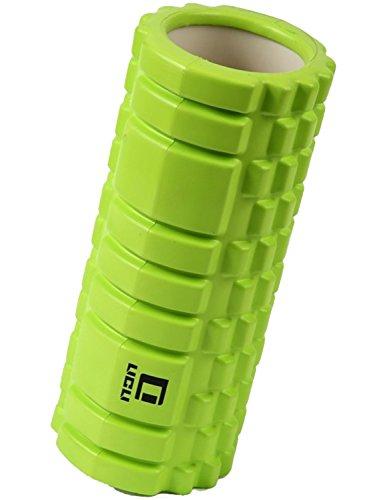LICLI フォームローラー 筋膜リリース トリガーポイント グリッド ミニ ストレッチローラー 「 マッサージ トレーニング ストレッチ ローラー ハーフ ヨガポール 」「 肩こり 腰痛 」 説明書つき 7色 (グリーン)