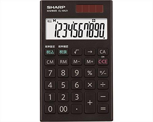 シャープ 電卓  EL-WA21-X 手帳タイプ ブラック系