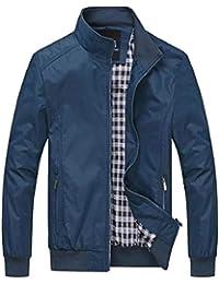 Keaac メンズウインドブレーカーボンバージャケット軽量屋外ジャケットスポーツウェア