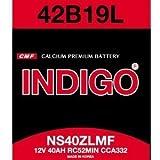 INDIGOバッテリー【ムーヴラテ】42B19L 2年4万km保証【国産車用】