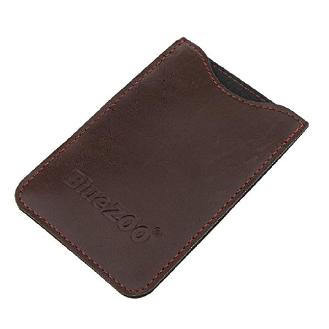 温帯経度スーパーマーケットPerfeclan コンビバッグ PUレザー 櫛バッグ ポケット オーガナイザー 収納ケース 保護カバー パック 全2色 - 褐色