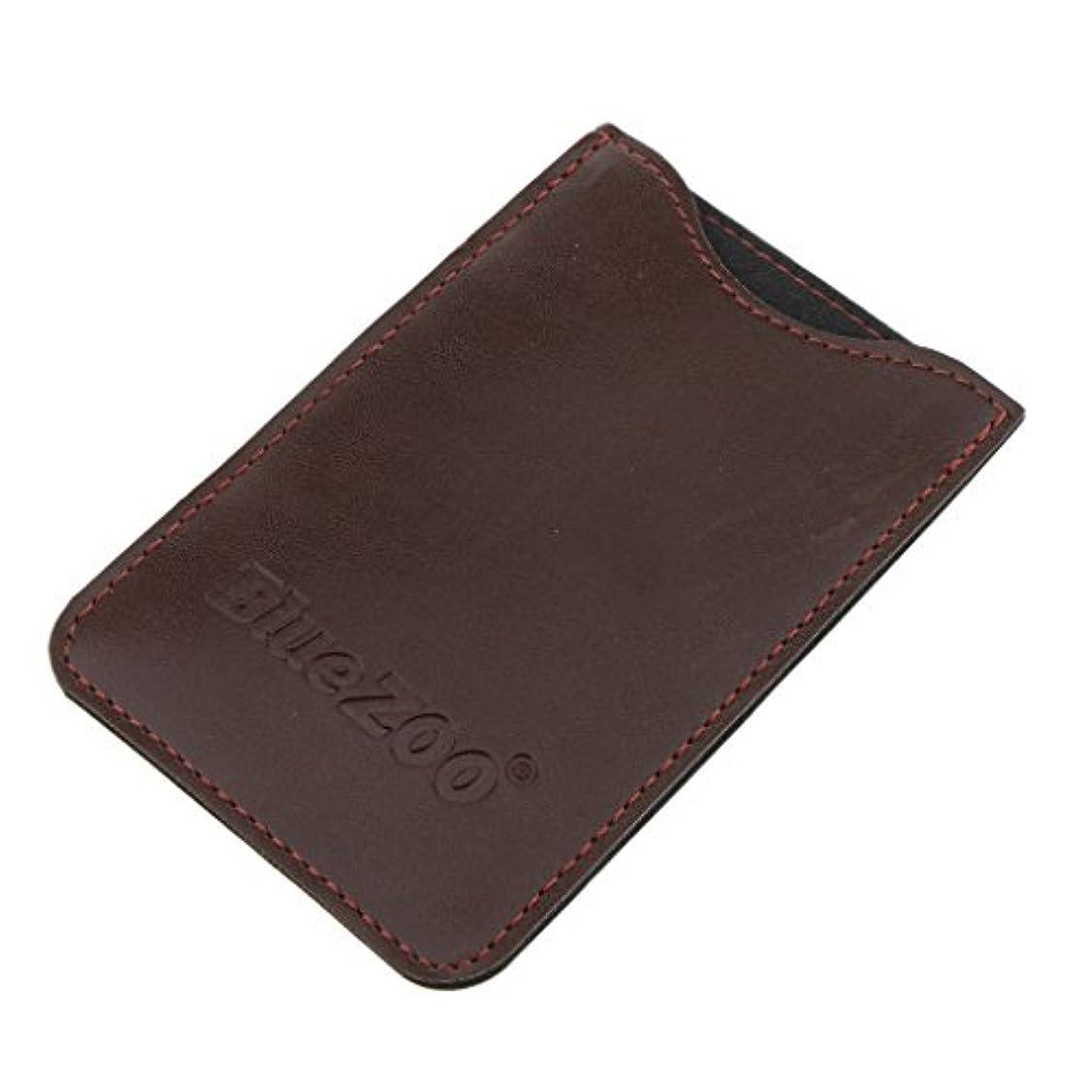 スクリーチ問い合わせる動物園コンビバッグ PUレザー 櫛バッグ ポケット オーガナイザー 収納ケース 保護カバー パック 全2色 - 褐色