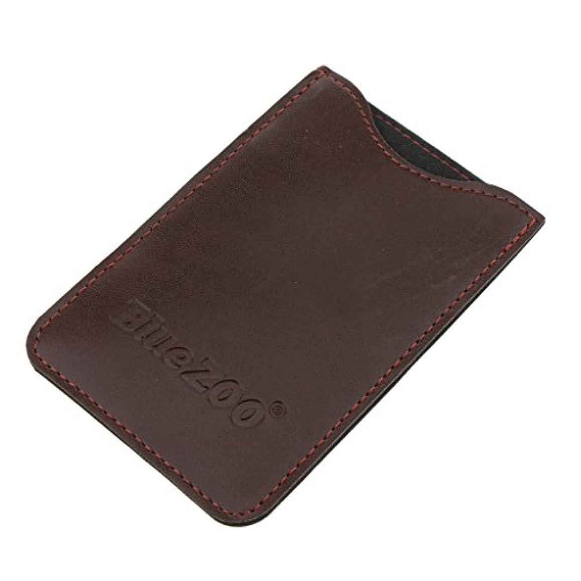 痴漢放散する無効Perfeclan コンビバッグ PUレザー 櫛バッグ ポケット オーガナイザー 収納ケース 保護カバー パック 全2色 - 褐色