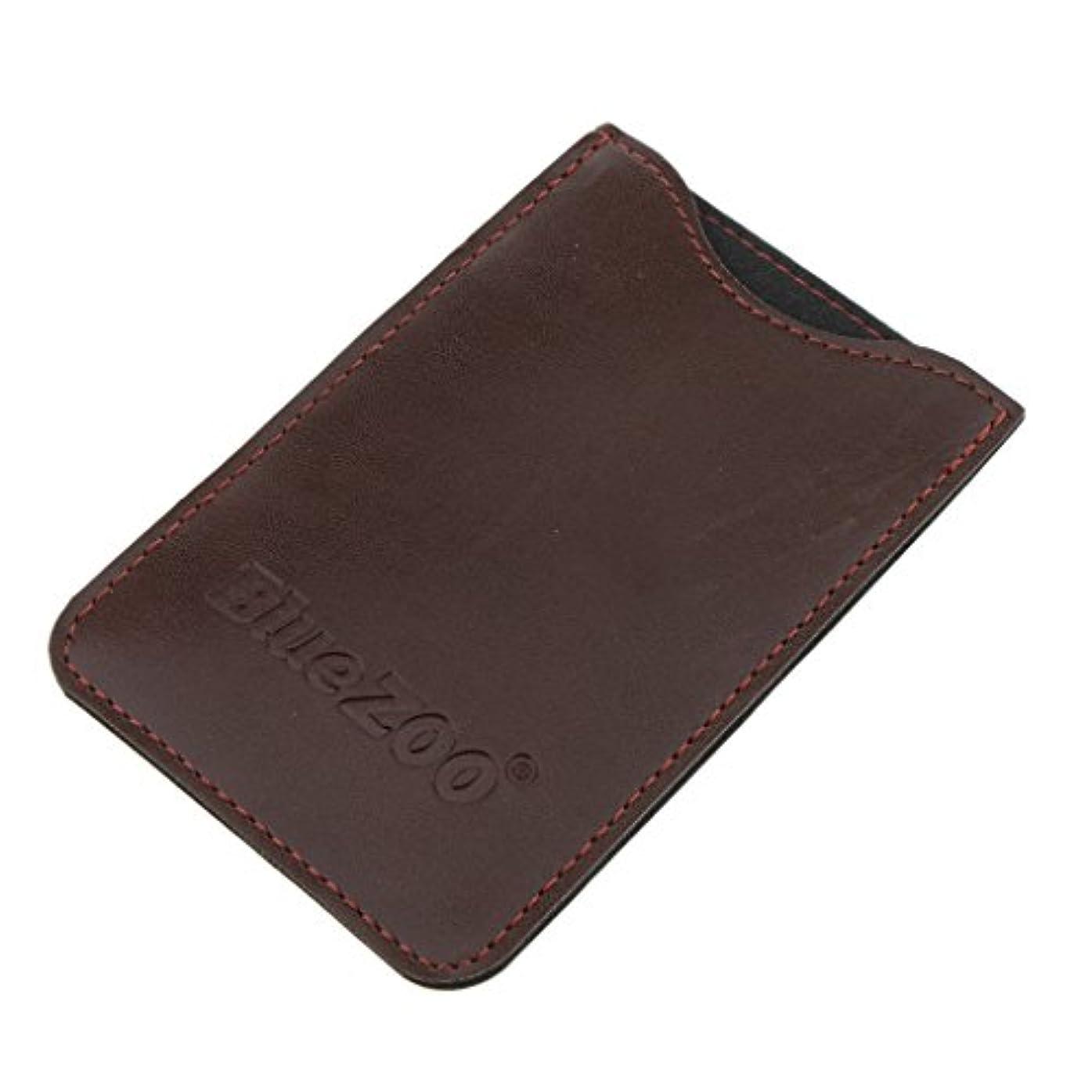 バター交換可能ネコPerfeclan コンビバッグ PUレザー 櫛バッグ ポケット オーガナイザー 収納ケース 保護カバー パック 全2色 - 褐色