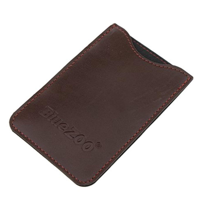 船酔い系統的軽食Perfeclan コンビバッグ PUレザー 櫛バッグ ポケット オーガナイザー 収納ケース 保護カバー パック 全2色 - 褐色