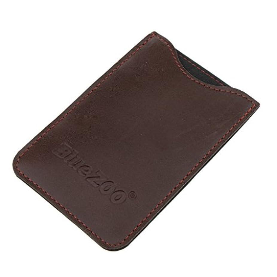 コンピューターゲームをプレイする電気のセンチメートルPerfeclan コンビバッグ PUレザー 櫛バッグ ポケット オーガナイザー 収納ケース 保護カバー パック 全2色 - 褐色
