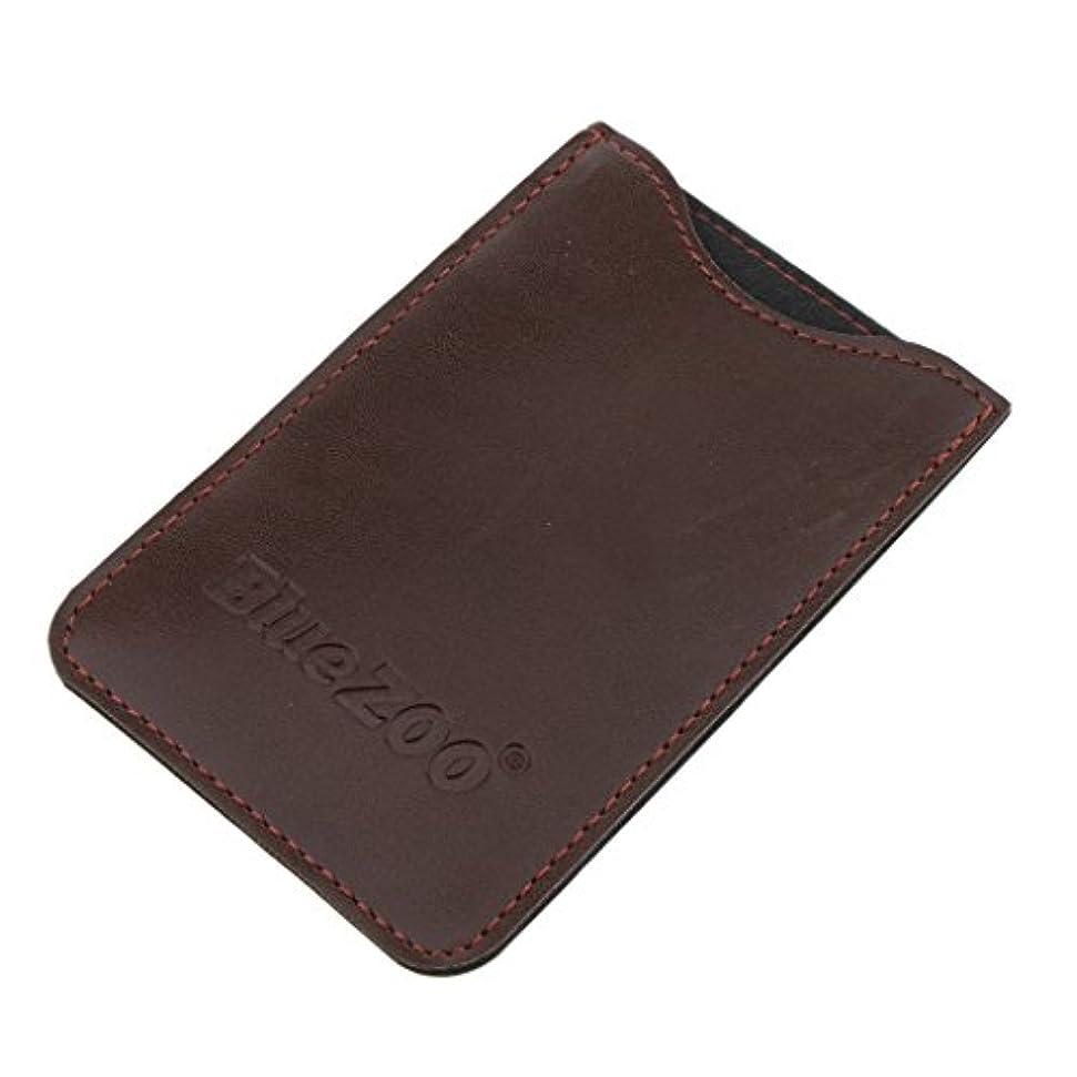 同僚寛大さ誤解コンビバッグ PUレザー 櫛バッグ ポケット オーガナイザー 収納ケース 保護カバー パック 全2色 - 褐色