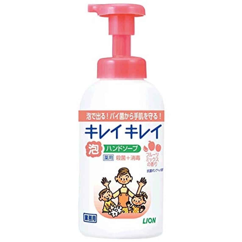 適合しました慢ずっと【業務用 大容量】キレイキレイ 薬用 泡ハンドソープ フルーツミックスの香り 本体ポンプ 550ml(医薬部外品)