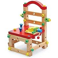 大工さんセット 工具セット 椅子 おままごと 木のおもちゃ 組み立て ツール 男の子のおもちゃ キッズ用 子供のおもちゃ 知育玩具 誕生日 クリスマス プレゼント