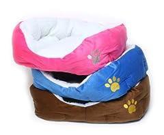 PetStyle ペットベッド 猫ベッド ソファ ふわふわモコモコ 赤 青 茶色 3色セット