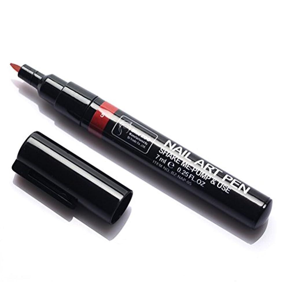 庭園確認別々に(メイクアップエーシーシー) MakeupAcc カラーネイルアートペン 3Dネイルペン ネイルアートペン ネイルマニキュア液 ペイントペン ペイント 両用 DIY 16色 (赤い) [並行輸入品]