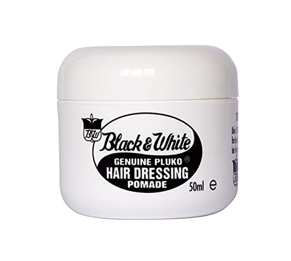 ダースドナウ川頻繁にBlack and White Pluko Hair Dressing Pomade 50ml