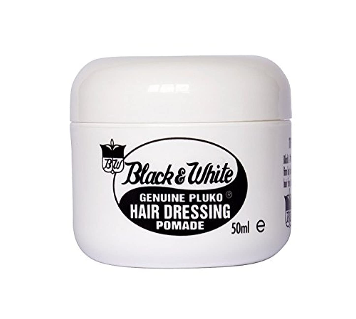 小麦松の木カニBlack and White Pluko Hair Dressing Pomade 50ml