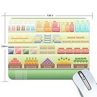 マウスパッド スーパー 経営 模擬 ゲーミング 疲労低減 おしゃれ 滑り止め かわいい 布製 PC MacBook pro/DELL/HP/SAMSUNGなどに 光学式対応 プレゼント AKINIO