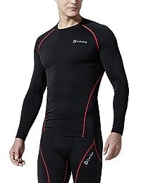 (テスラ)TESLA オールシーズン 長袖 ラウンドネック スポーツシャツ [UVカット・吸汗速乾] コンプレッションウェア パワーストレッチ アンダーウェア・R11/19
