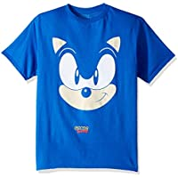 SEGA Boys Sonic The Hedgehog Big Face Short Sleeve Tshirt Short Sleeve T-Shirt - Blue