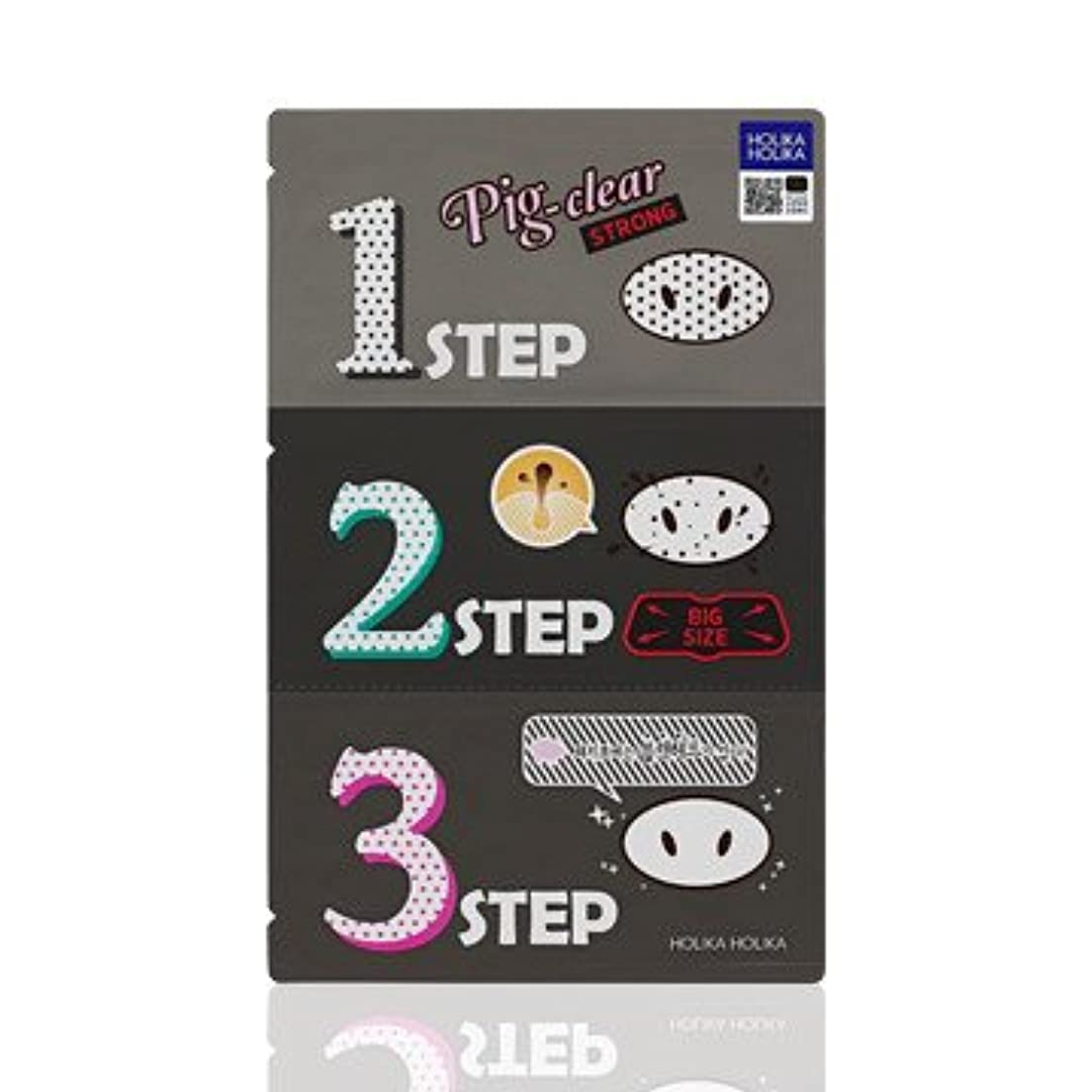 に応じて汚いメアリアンジョーンズHolika Holika Pig Nose Clear Black Head 3-Step Kit 3EA