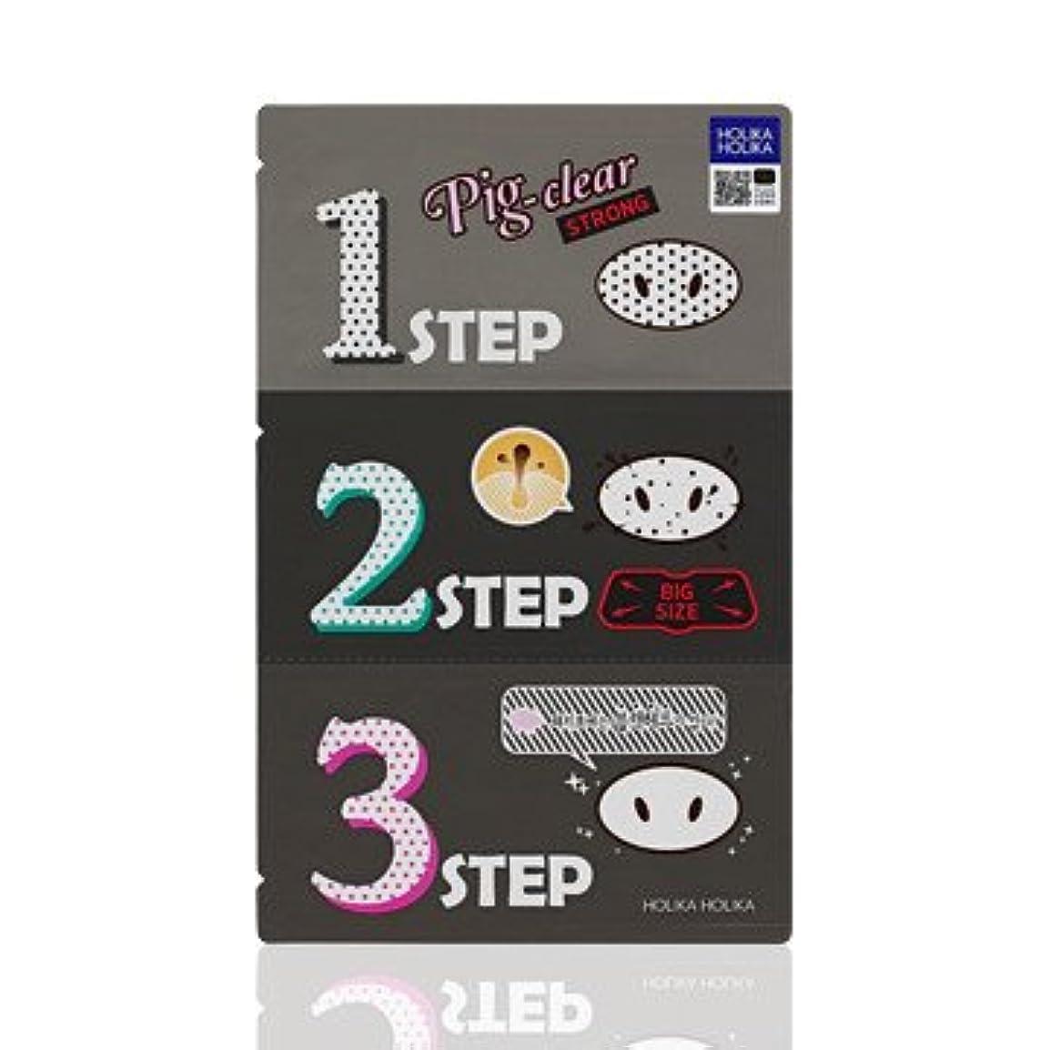 エラーファイバ出会いHolika Holika Pig Nose Clear Black Head 3-Step Kit 3EA