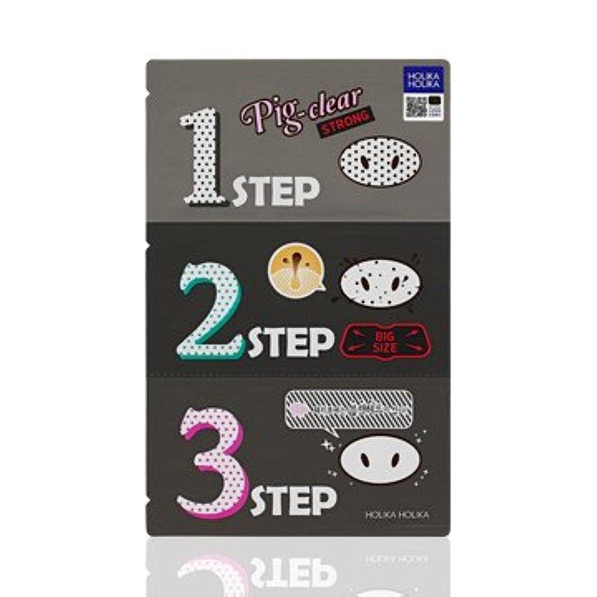 リーガン尊敬するペニーHolika Holika Pig Nose Clear Black Head 3-Step Kit 3EA