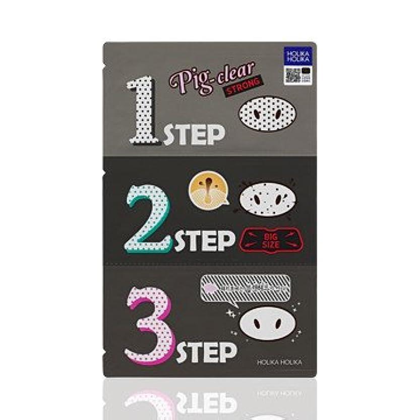 におい庭園クレジットHolika Holika Pig Nose Clear Black Head 3-Step Kit 10EA