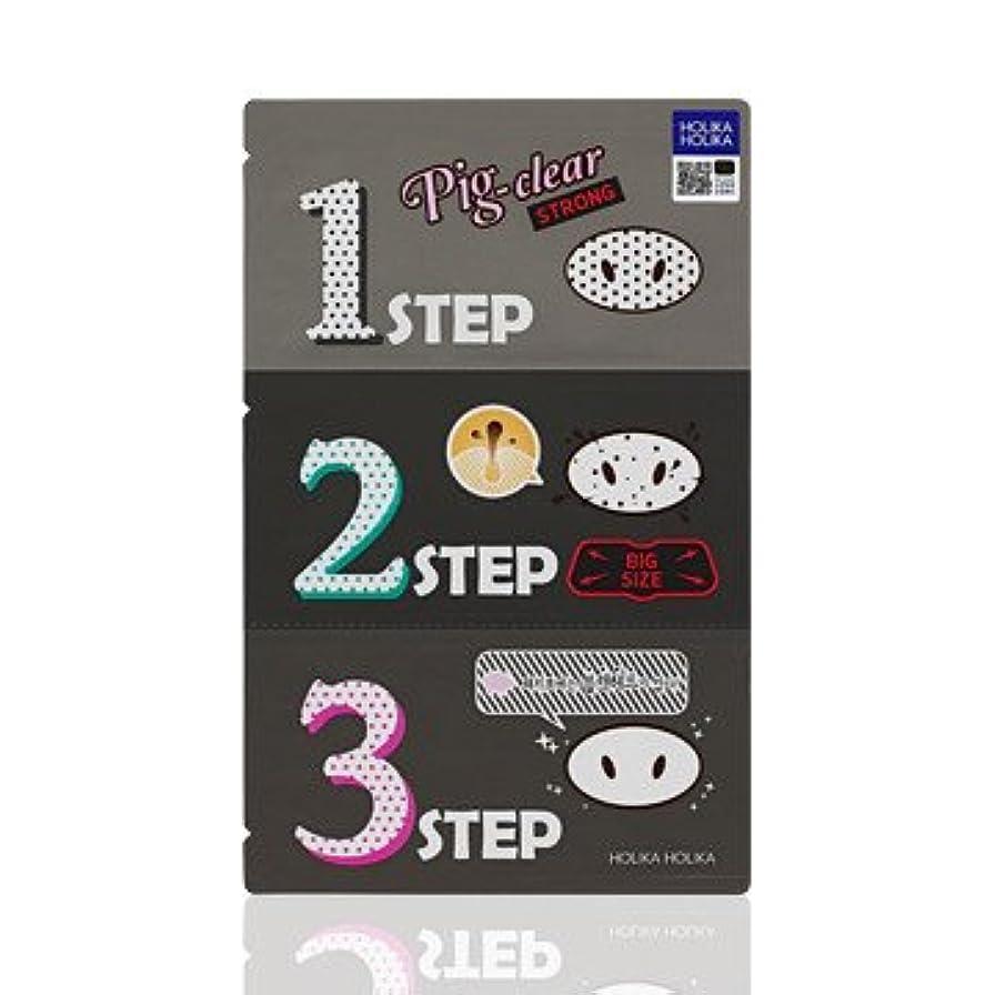 恒久的記念品レンズHolika Holika Pig Nose Clear Black Head 3-Step Kit 10EA
