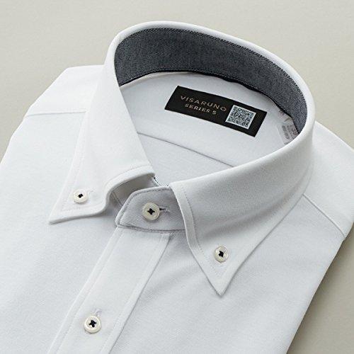 ビサルノ(VISARUNO) [首35~50cm]シリーズ5(形態安定生地)[ラクチンすっきりYシャツ]【ホワイト/【細身】39(81~83)】