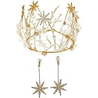 Tiara Golden Handmade Round Crown Ear Clip Accessories Wedding Photography Wedding Headdress