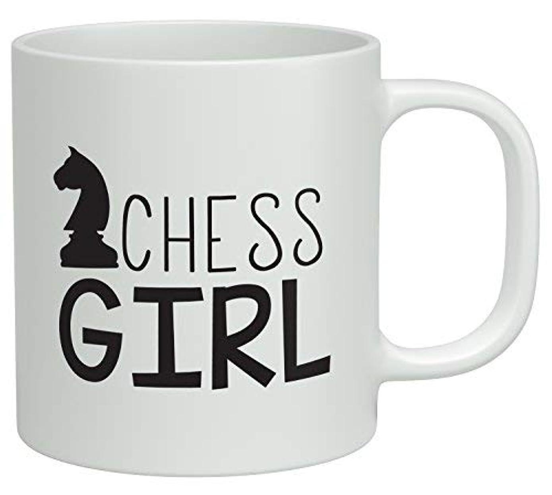 JY Chess Girl 11オンス ホワイト コーヒーマグ