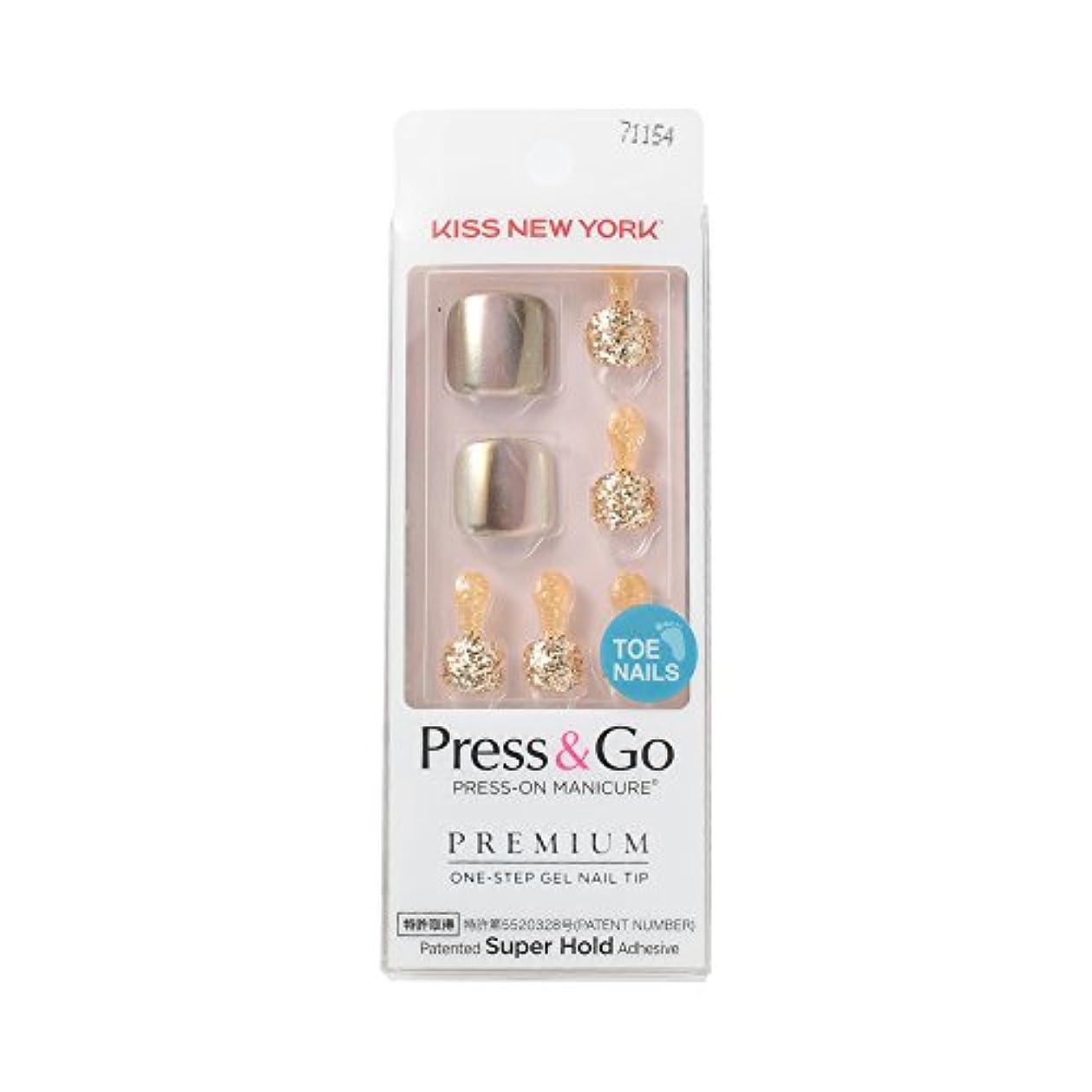 銅襟ポータルKISS NEW YORK ネイルチップPress & Go BHJT02J