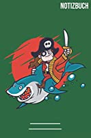 Notizbuch Gepunktet Pirat Kind Hai: A5  Notebook • 111 Seiten  • Extra  Kalender 2020 •  Einzigartig •  Dotgrid •  Dotted •  Punktraster  • Geschenk • Geschenkidee