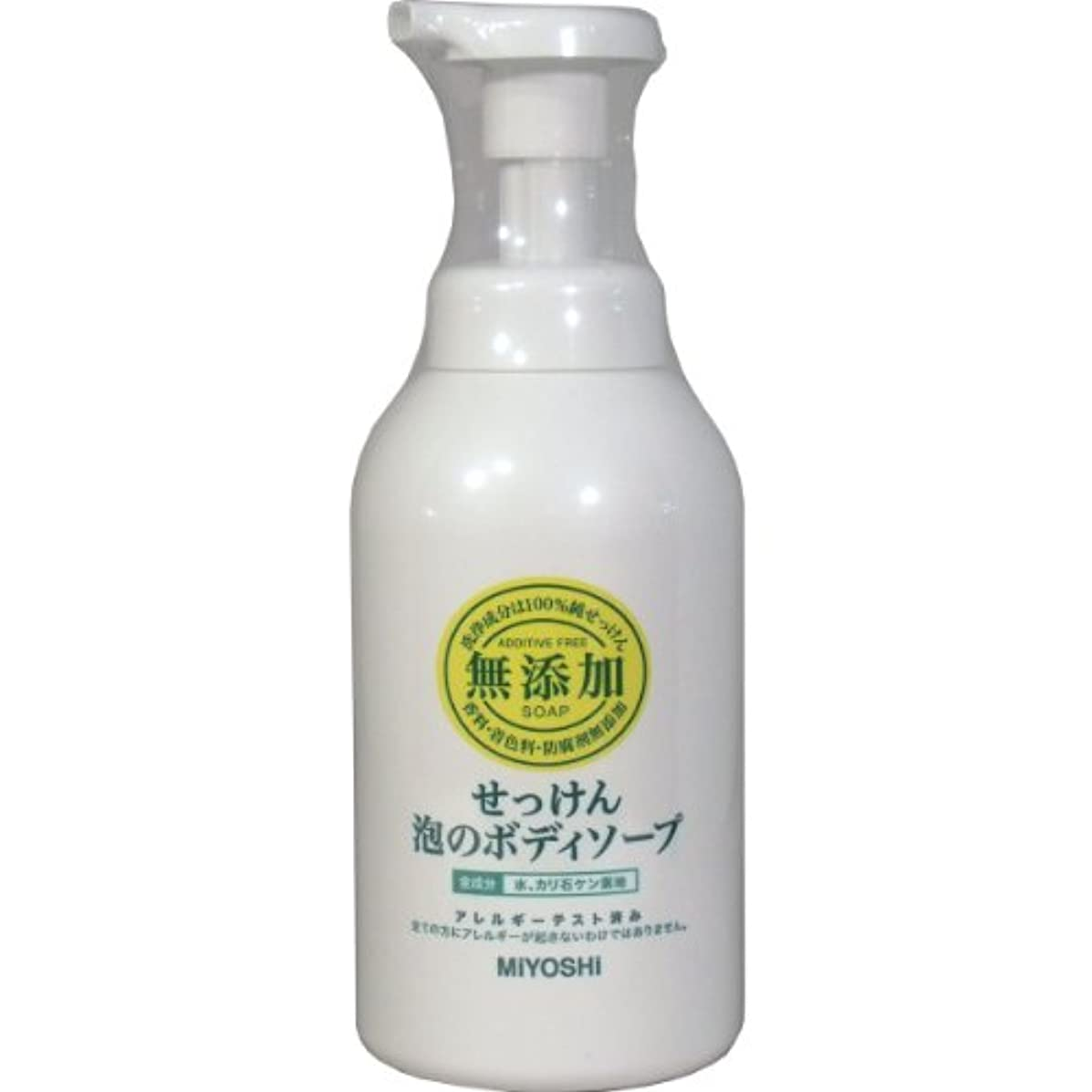 チーフ肌協力【お徳用 4 セット】 ミヨシ 無添加 せっけん 泡のボディソープ 500ml(無添加石鹸)×4セット