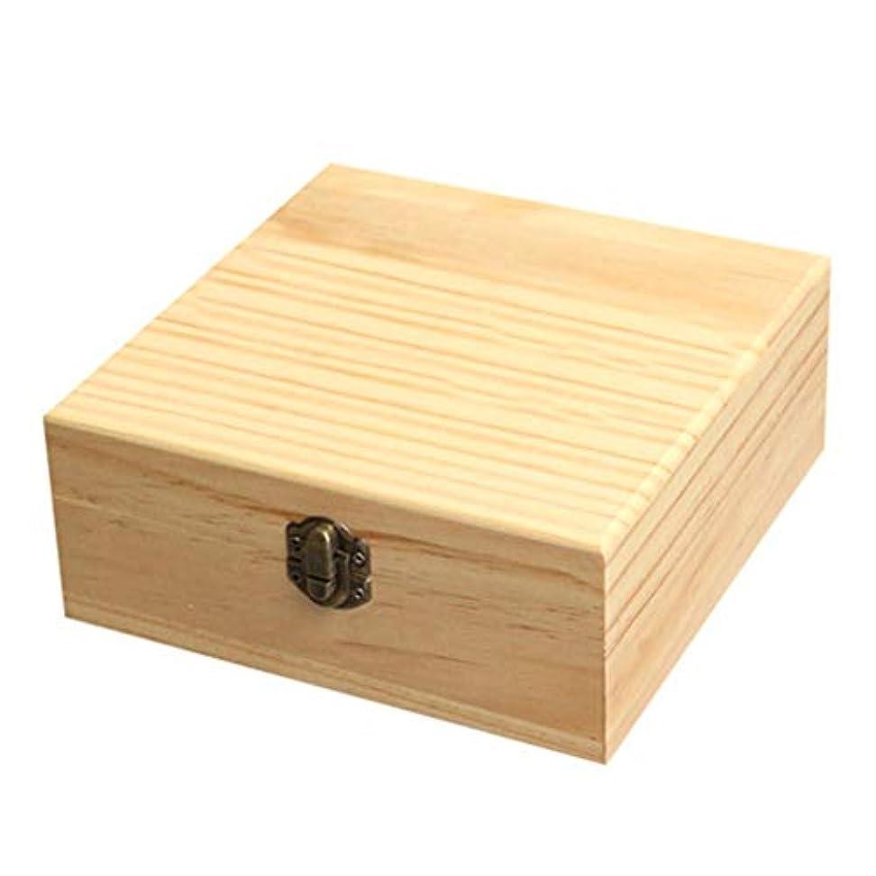 フラッシュのように素早く適応ノミネートhopefull エッセンシャルオイル収納ボックス 大容量 和風 レトロ 木製 精油収納 携帯便利 オイルボックス 飾り物 25本用 for