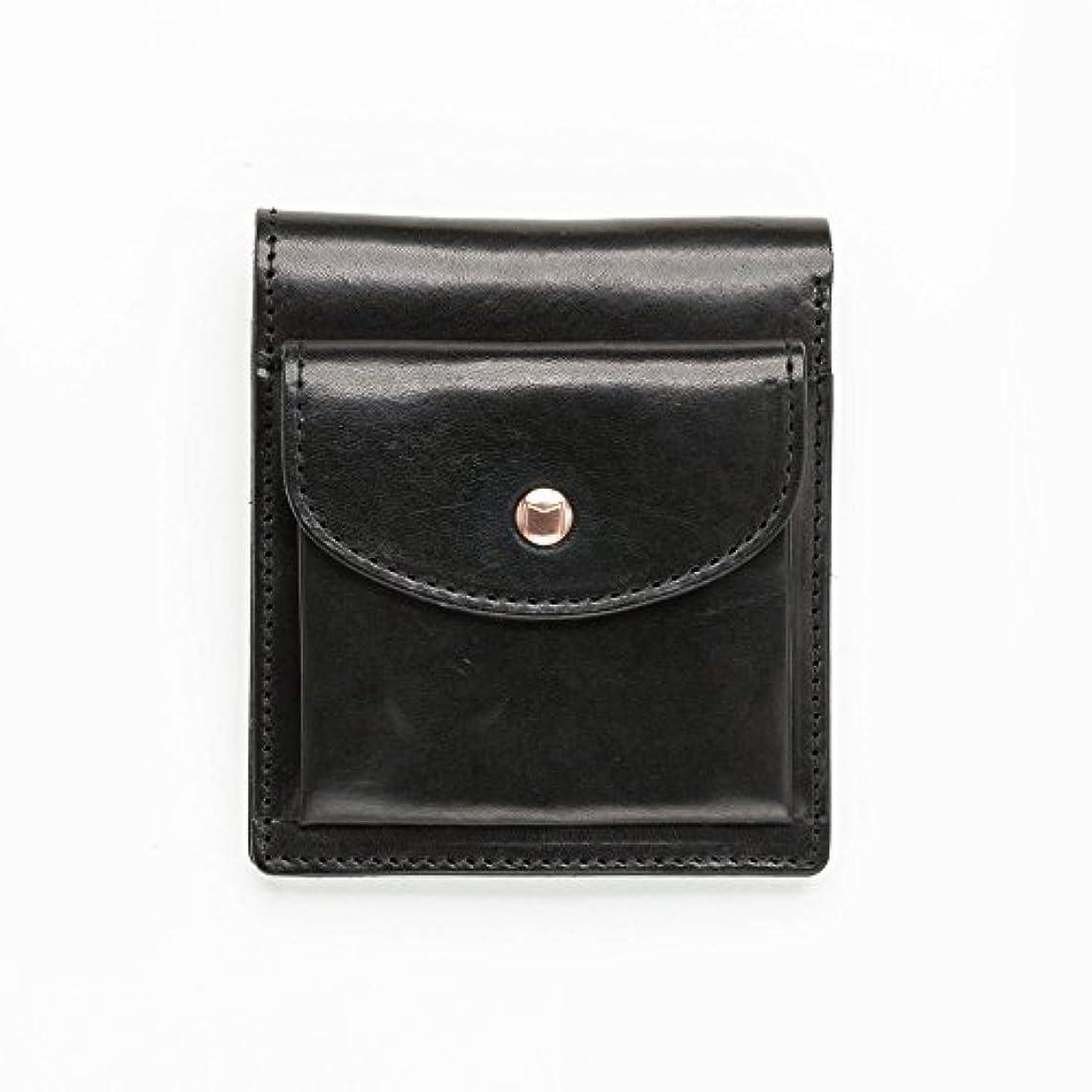 破裂ベンチ引用moblis(モブリス)イタリアンレザー/ビフォードウォレット 2つ織財布 (ブラック)