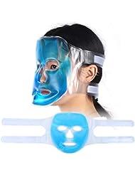 保湿 ジェルブルーフェイスマスク 疲労緩和 リラクゼーションフル フェイスクーリングマスク