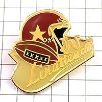 限定 レア ピンバッジ アメフト球とヘルメット星アメリカ/USA ピンズ フランス